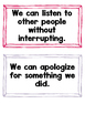 Social Skills Checklist & We Can Statements