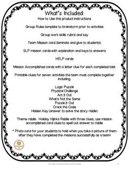Christmas Social Skills Group Work