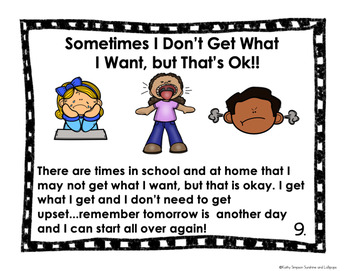 Classroom Management Social Skill Story Sometimes I Don't Get What I WantPre-K-2