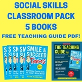 Social Skills Classroom Pack 5 Books: Smile & Succeed for Teens. Life Skills