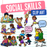 Social Skills Clip Art - Bonus Speech Bubbles - Joint Attention, Eye contact etc
