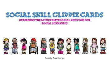 Social Skills Clippie Cards