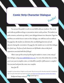 Social Skills Comic Strip Dialogue