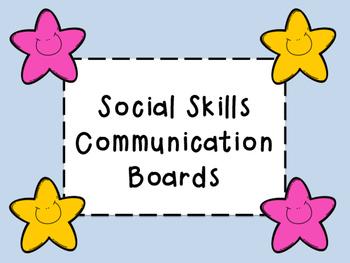 Social Skills Communication Boards