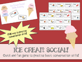 Social Skills/Conversation Game: ICE CREAM SOCIAL