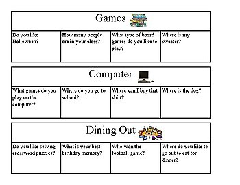 Social Skills- Conversation Questions Task Box Activity
