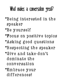 Social Skills Conversations