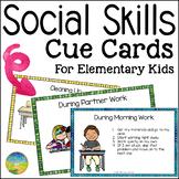 Social Skills Cue Cards