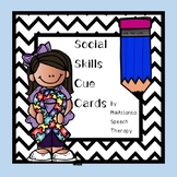 Social Skills Cue Cards {Printables}