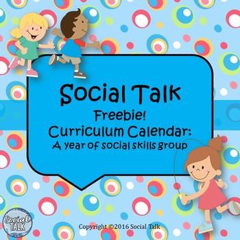 Social Skills Curriculum Calendar