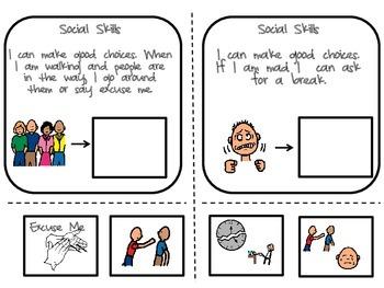 Social Skills Cut & Paste- Nichole's Autism Classroom Supports
