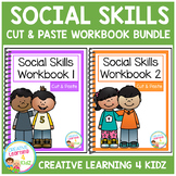 Social Skills Cut & Paste Workbook Bundle Autism
