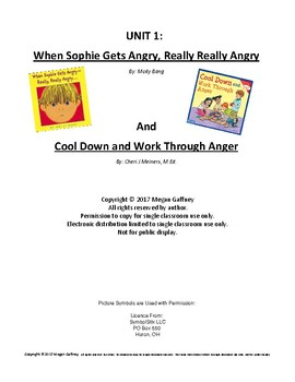 Social Skills Dealing with Anger homework packet
