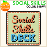 Social Skills Deck – with color AND black and white options!