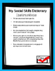 Social Skills Dictionary Freebie