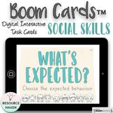 Social Skills Digital Boom Cards™ Activity - Expected Vs U