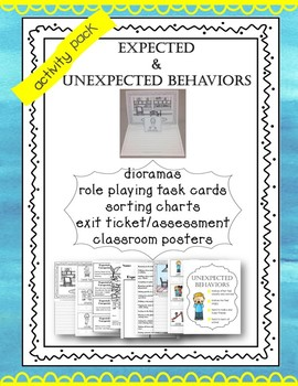 Social Skills Dioramas Expected Unexpected Behaviors Resource Pack