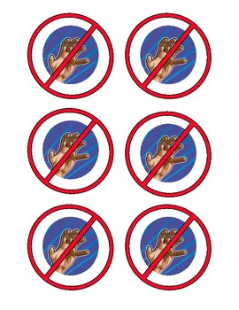 Social Skills - Do Not Touch Signs - Permission or Prohibit