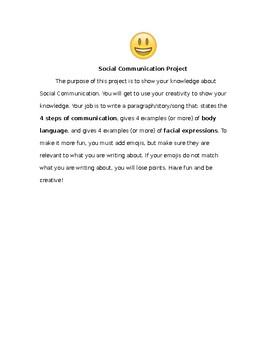 Social Skills Emoji Project