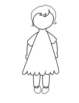 Social Skills Emotional Understanding Faceless girl clip art