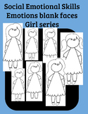 Social Skills Emotional Understanding Faceless girl clip art