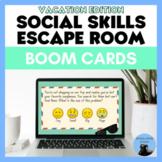 Social Skills Escape Room: Summer Vacation Boom Cards
