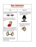 Social Skills - Eye Contact