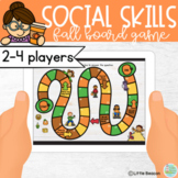 Social Skills Fall Interactive Smart Board Game Boom Cards