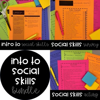 Social Skills: Back to School BUNDLE (first 6 weeks!)