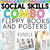 Social Skills Flippy Books with Manners/Expectations Posters COMBO