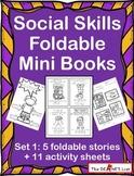 Social Skills Foldable Mini Books Set 1 School Behaviors