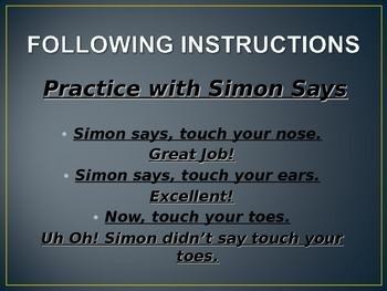 Social Skills: Following Instructions II