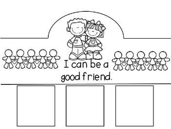 Back to School-Social Skills Freebie- I Can Be a Good Friend