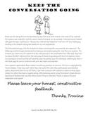 Social Skills Freebie - Keep the Conversation Going