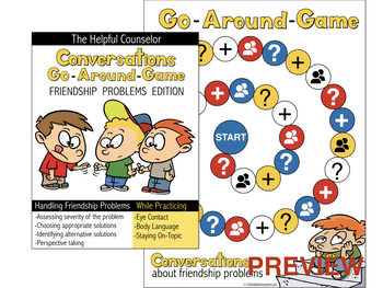 Social Skills Game: Conversations Go Around - Friendship Problems Edition