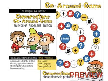 Social Skills Game: Conversations Go Around - Friendship Problems Edition