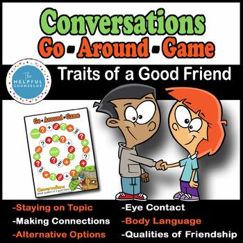 Social Skills Game  Conversations Go Around: Friendship Traits