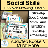 Social Skills Adapted Books and Interactive Activities Bundle Autism/SPED
