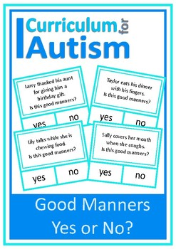 Social Skills Good Manners Yes No Autism Special Education