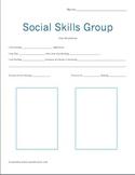 Social Skills Group, Character Worksheet