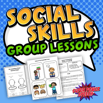 Social Skills Group Lessons (curriculum for a year!)