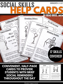 Social Skills Help Cards - Autism - Social Learning