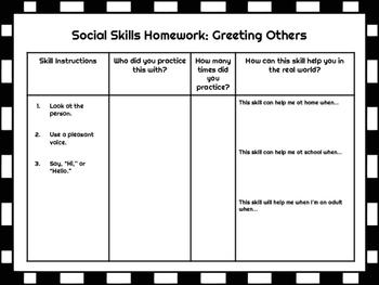 Social Skills Homework Practice
