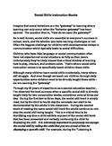 Social Skills Instruction Article - FREE