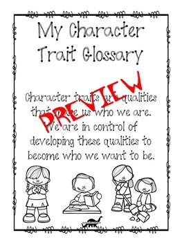 Social Skills Interactive Notebook: Character Traits