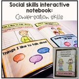 Social Skills Interactive Notebook. Conversation Skills. Autism and Speech.