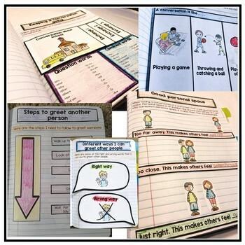 Social Skills Interactive Notebook. Conversation Skills. Autism and Speech.