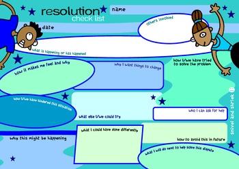 Social Skills - Interactive Resolution Worksheet