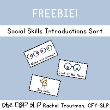 Social Skills Introductions Sort