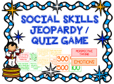 Social Skills Jeopardy/Quiz Game for Speech Therapy, Couns